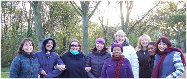 Shinpiden graduates in the park.